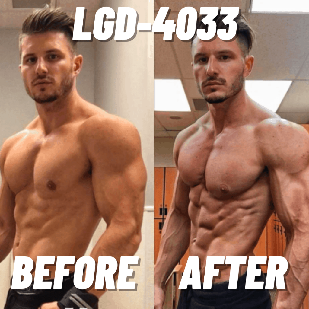 LGD-4033 before and after